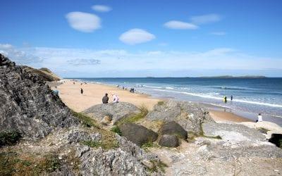 Портраш пляж / Whiterocks Beach Portrush. Ирландия на машине. Часть 8