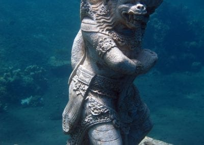 снорклинг на Бали,подводные статуи в бухте Джамелук, Амед