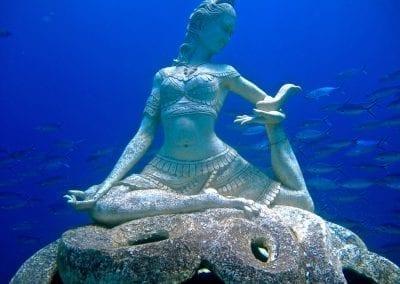 снорклинг на Бали, подводные статуи в бухте Джамелук, Амед, Бали